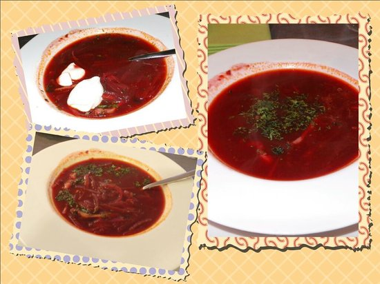 Novotel St. Petersburg Centre: Borsch at Cote Jardin restaurant