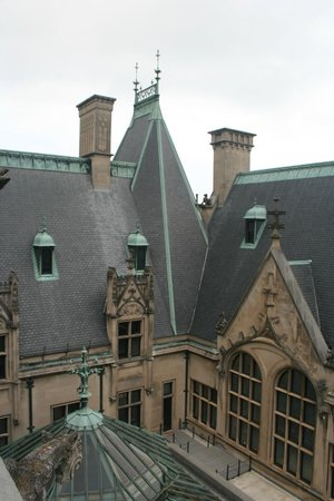 Biltmore Estate : View from the roof - looking down on the Winter Garden