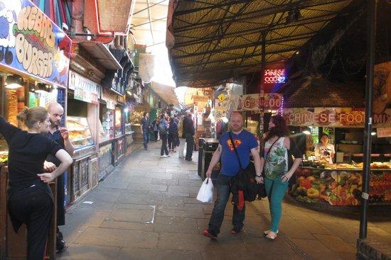 Camden Market: tunnel of stalls