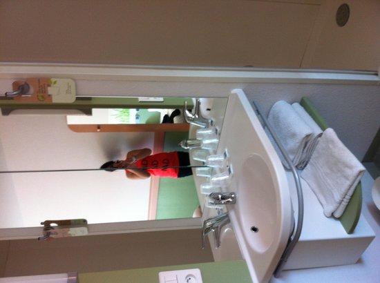 Ibis budget Paris Porte d'Orleans: Coin lavabo