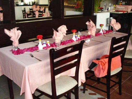 Sol Cayo Santa Maria : our beautiful decorated table