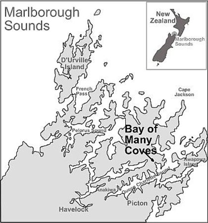 The Foredeck Restaurant: Bay of Many Coves Location Map