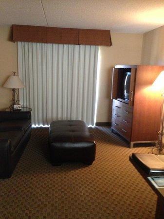 Radisson Suites Tucson: TV/Leather Couch