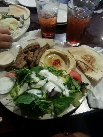 Phoenicia Restaurant: one of the many delicious gyro plates which were ordered