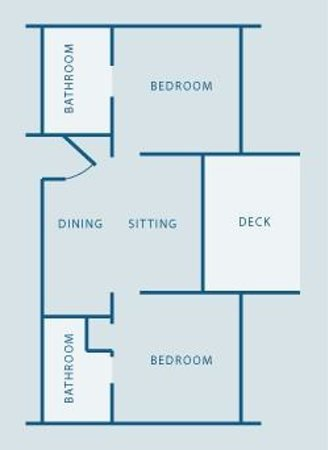 Bay of Many Coves: Two Bedroom Floor Plan
