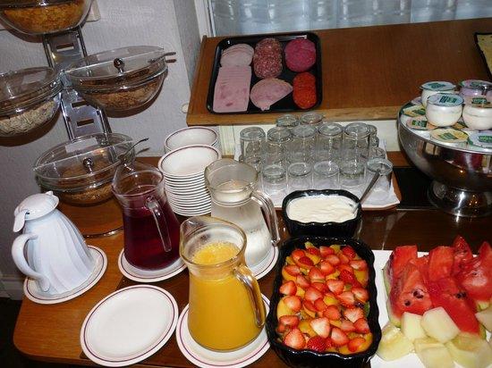 Arosfa: petit déjeuner