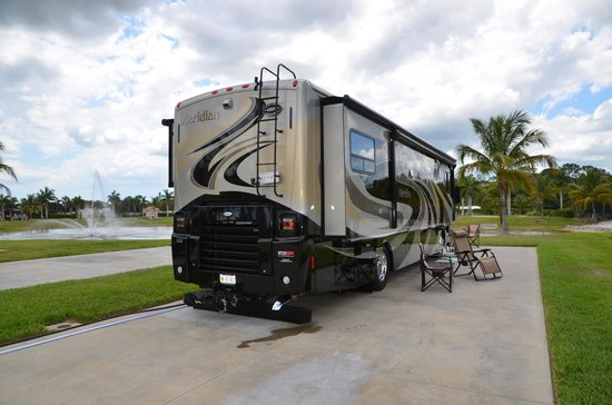Naples Motorcoach Resort: Water Front site #158.  Beautiful Site.