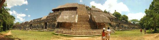 Ek Balam Mayan Ruins : Front view-panoramic