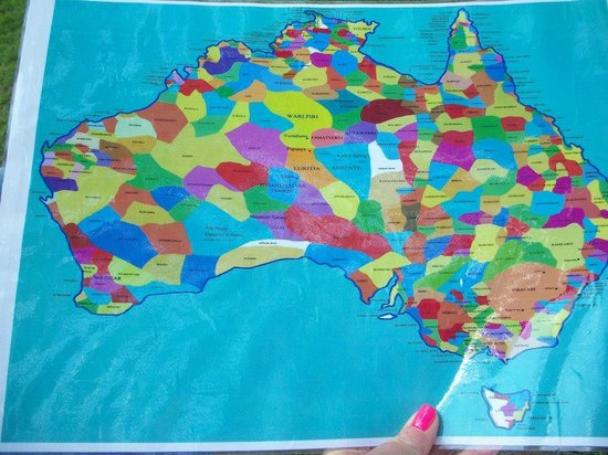 Map of Australias aboriginal tribes Picture of The Rocks Dreaming