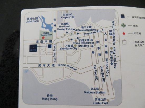 Novotel Shenzhen Watergate: Map