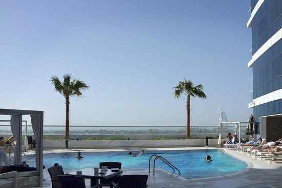 View From The Pool Bar Can See The Burj Al Arab Picture Of