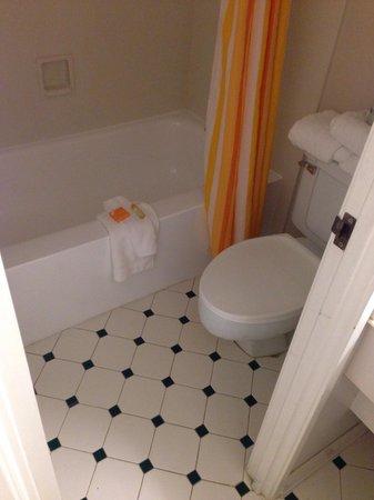 Baymont Inn & Suites Orange Park Jacksonville: Bathroom. Not my taste. This place needs a serious renovation.