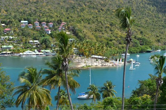 Marigot Palms Luxury Caribbean Guesthouse and Apartments: Million Dollar View!