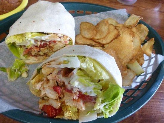 Surf Bagel And Deli: No Hope Chicken Wrap Surf Bagel