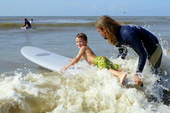 C-Sick Surfin' : Travis at the office teaching surfing.