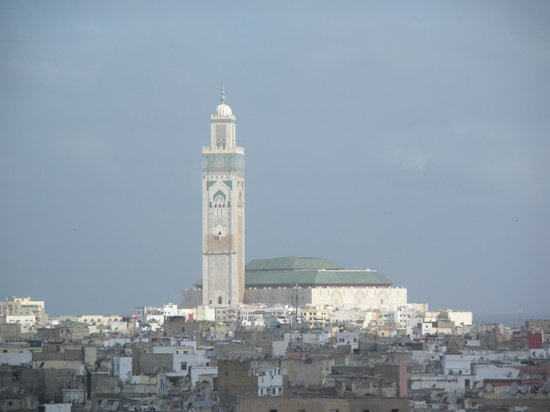 Royal Mansour Casablanca: View of the Mosque from our room