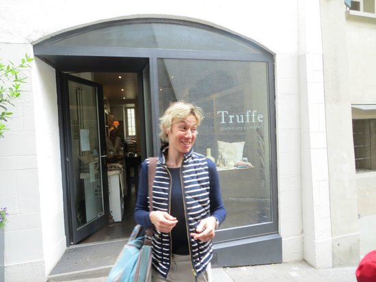 "Sweet Zurich Tour: Kerrin, ""The Swiss Chocolate Lady"", our tour guide."