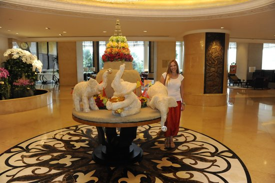 Shangri-La Hotel,Bangkok : La recepción
