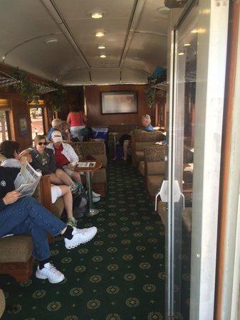 Grand Canyon Railway: In rail baron car