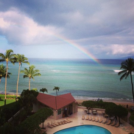 Royal Kahana: View from our room complete witha rainbow!