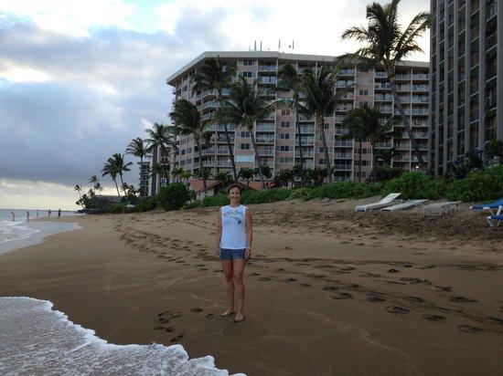 Royal Kahana: Our beach with hotel/condo in back