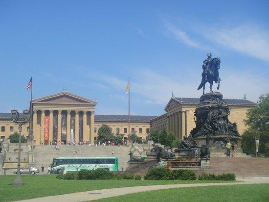Philadelphia Museum of Art: Museu de arte e Washington monument