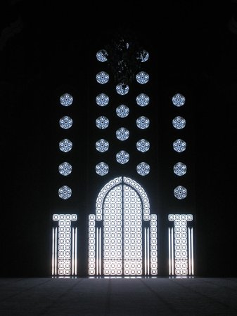 Mosquée Hassan II : Stained glass