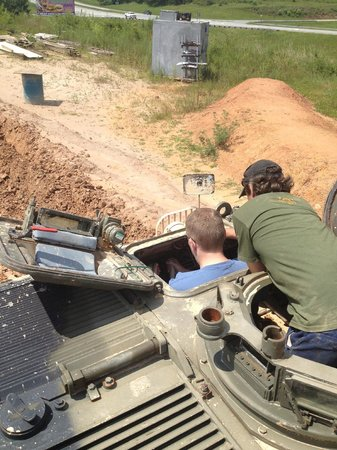 Tank Town USA: Me driving while receiving instruction