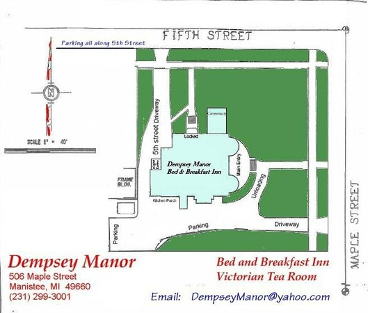 The Dempsey Manor : Mansion and Grounds Site Plan