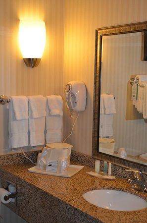 Comfort Suites: The bathroom