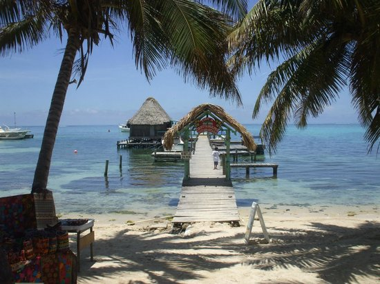 SunBreeze Suites: One of the docks with a hut on it
