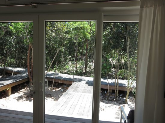 The Cove Eleuthera: view  from inside bush room 1