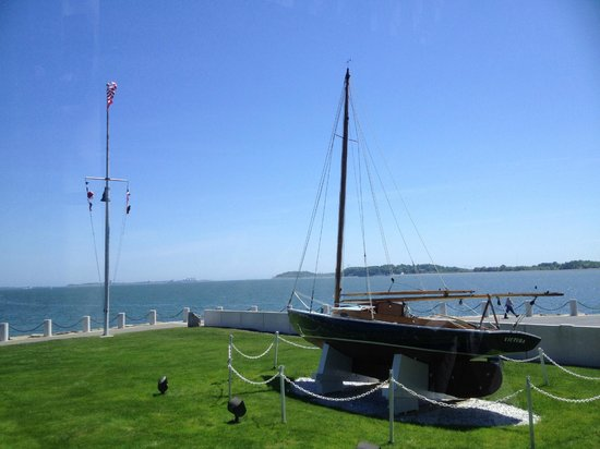 John F. Kennedy Presidential Museum & Library: JFK's sailing yacht, the Victoria.
