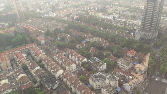 Hilton Shanghai: エグゼクティブラウンジからの眺め
