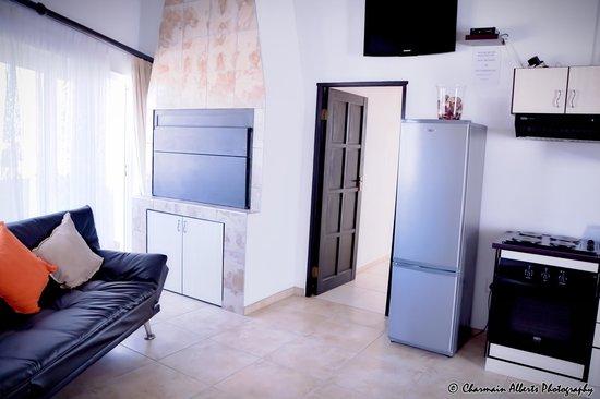 Swakopmund Accommodation: Indoor braai of Luxury 2 bedroom family unit