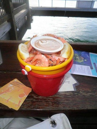 Tin Shed: Dont miss a bucket of prawns!