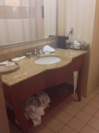 Hampton Inn Metairie : bathroom vanity