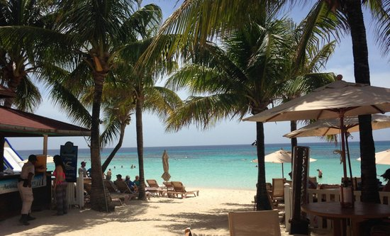 Infinity Bay Spa and Beach Resort: View from the palapa beach bar and restaurant