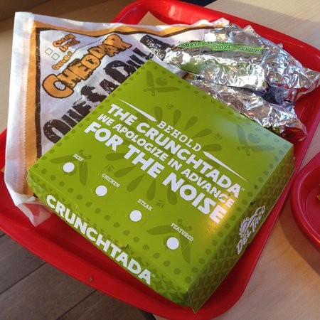 Del Taco : The Cruchtada was one of our favorites, but quesadilla was nothing special.