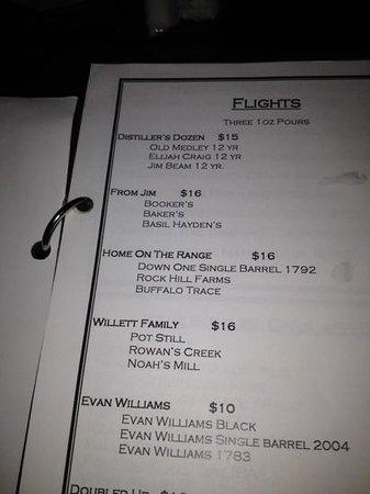 Book and bourbon louisville menu