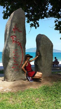 Nha Trang Beach : Nha Trang sign at beach