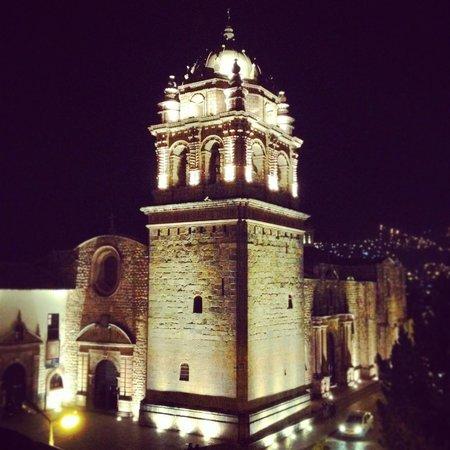 Palacio del Inka, A Luxury Collection Hotel, Cusco: View of Qorikancha at night