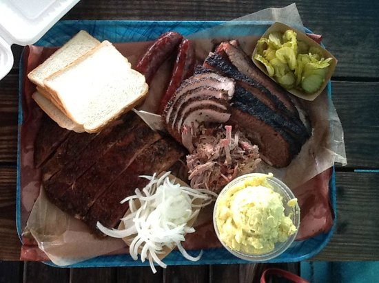 Franklin Barbecue: My feast at Franklin BBQ.