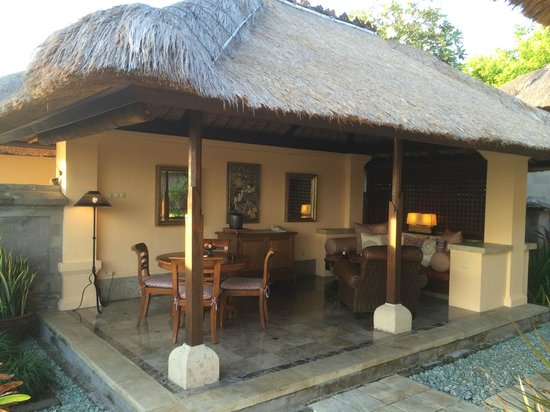 Your Private Villa Outdoor Living Room Picture Of Four Seasons Resort Bali