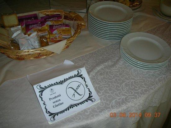 Enea Hotel Aprilia: Prodotti senza glutine