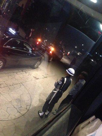 Gran Melia Jakarta: front door security