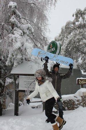 Feathertop Alpine Lodge Entrance