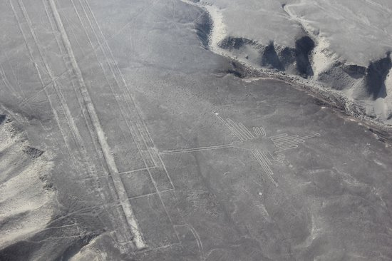 Nasca Lines : the Hummingbird from the air