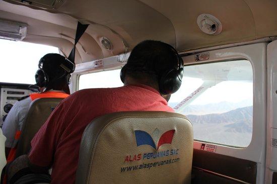 Nasca Lines : inside our Alas Peruanas plane