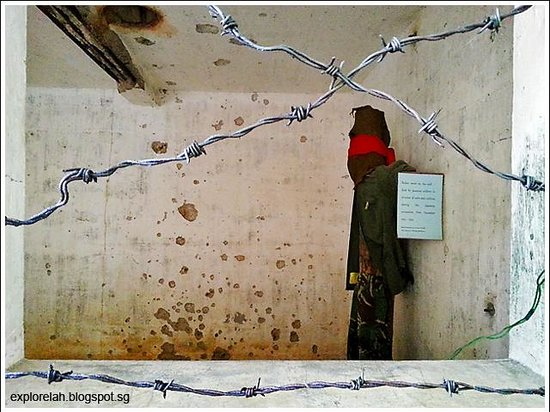 Penang War Museum: Torture of POWs.